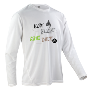 Team-JOllify Dirt Trikot Eat Sleep Ride Dirt Mountainbike weiss langarm