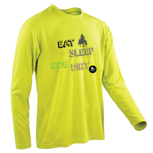 Laden Sie das Bild in den Galerie-Viewer, Team-JOllify Dirt Trikot Eat Sleep Ride Dirt Mountainbike gelb langarm