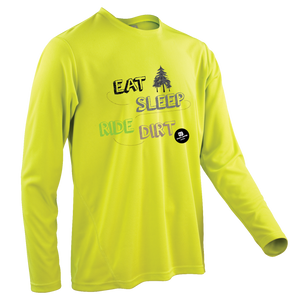 Team-JOllify Dirt Trikot Eat Sleep Ride Dirt Mountainbike gelb langarm