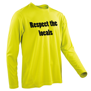 Team-JOllify Respect The Locals Mountainbike Trikot gelb langarm