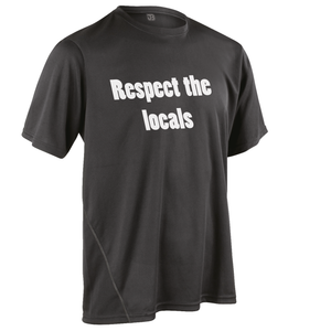 Team-JOllify Respect The Locals Mountainbike Trikot schwarz kurzarm