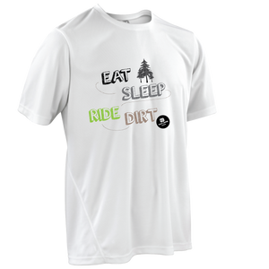 Team-JOllify Dirt Trikot Eat Sleep Ride Dirt Mountainbike weiss kurzarm