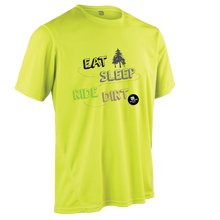 Laden Sie das Bild in den Galerie-Viewer, Team-JOllify Dirt Trikot Eat Sleep Ride Dirt Mountainbike gelb kurzarm