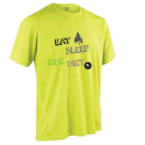 Team-JOllify Dirt Trikot Eat Sleep Ride Dirt Mountainbike gelb kurzarm