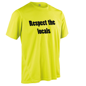 Team-JOllify Respect The Locals Mountainbike Trikot gelb kurzarm