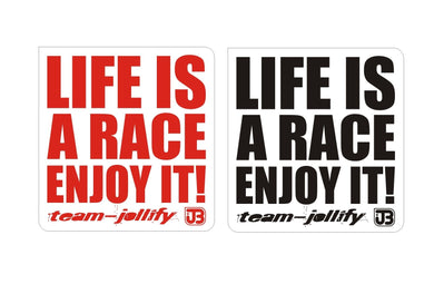 JOllify Aufkleber 'Life is a race enjoy it' - Team-JOllify