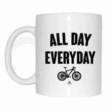 Laden Sie das Bild in den Galerie-Viewer, JOllify Kaffeetasse - All day everyday - Mtb Mountainbike Tasse black schwarz