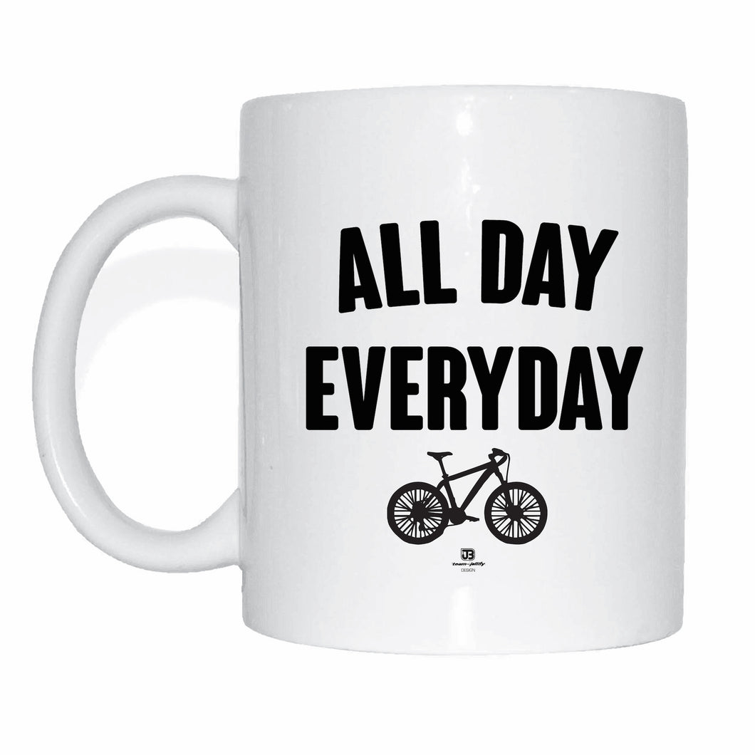 JOllify Kaffeetasse - All day everyday - Mtb Mountainbike Tasse black schwarz