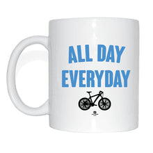 Laden Sie das Bild in den Galerie-Viewer, JOllify Kaffeetasse - All day everyday - Mtb Mountainbike Tasse sky blue blau