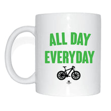 Laden Sie das Bild in den Galerie-Viewer, JOllify Kaffeetasse - All day everyday - Mtb Mountainbike Tasse green neon grün