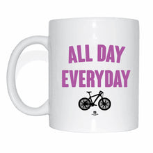 Laden Sie das Bild in den Galerie-Viewer, JOllify Kaffeetasse - All day everyday - Mtb Mountainbike Tasse pink