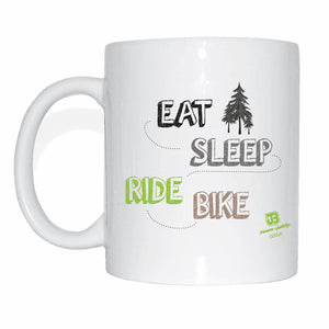 Team-JOllify Kaffeetasse - Eat sleep ride bike - Mtb Mountainbike Tasse - Team-JOllify