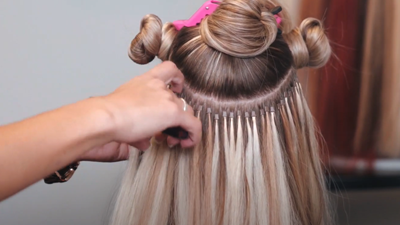 7-! I-tip Hair Extensions Tutorial -  Full Install by DreamCatchers Head Educator Dorothy
