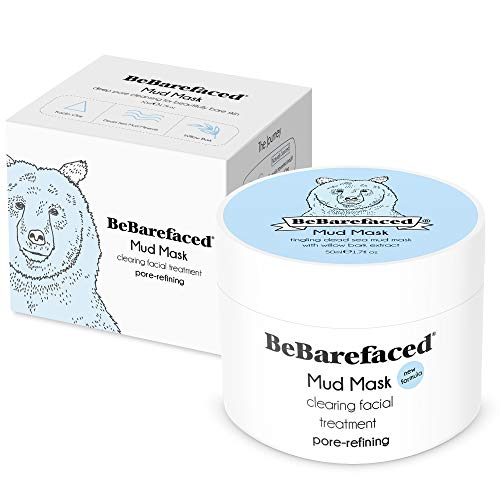 BeBarefaced Pore Refining Salicylic Blackhead and Acne Treatment Face Mask - Mud and Clay Anti Ageing Facial Mask with Salicylic Acid (BHA) and Willow Bark: Body Oils Irishoil.ie