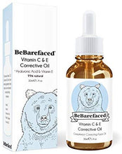Load image into Gallery viewer, BeBarefaced Vitamin E Face Oil - Facial Vitamin C Night Serum With Hyaluronic Acid: Body Oils Irishoil.ie