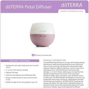 doTERRA Petal Essential Oil Diffuser 150ml - Aromatherapy Diffuser Health & Personal Care Irishoil.ie Essential Oils