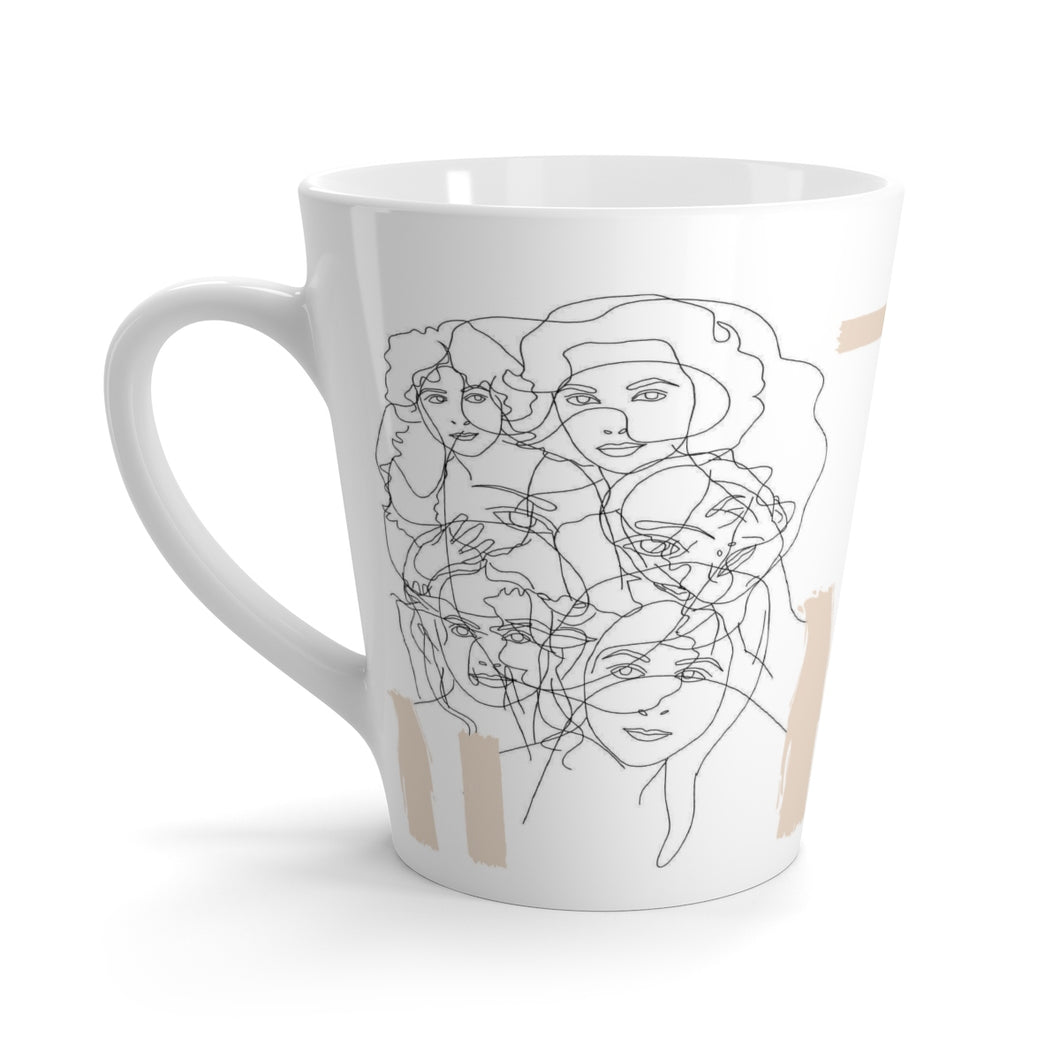 Interconnected Beige Latte Mug
