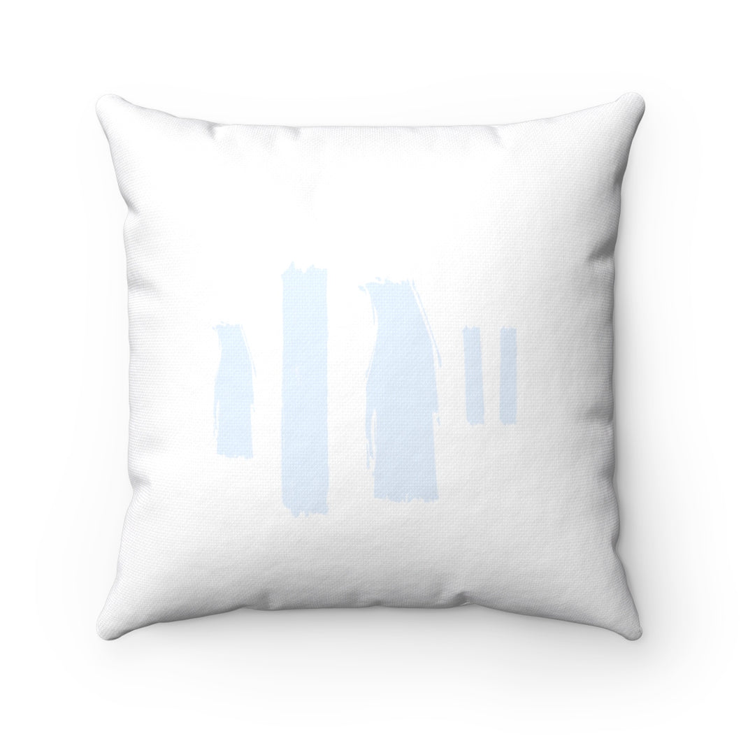 Blue Pain Strokes Square Pillow
