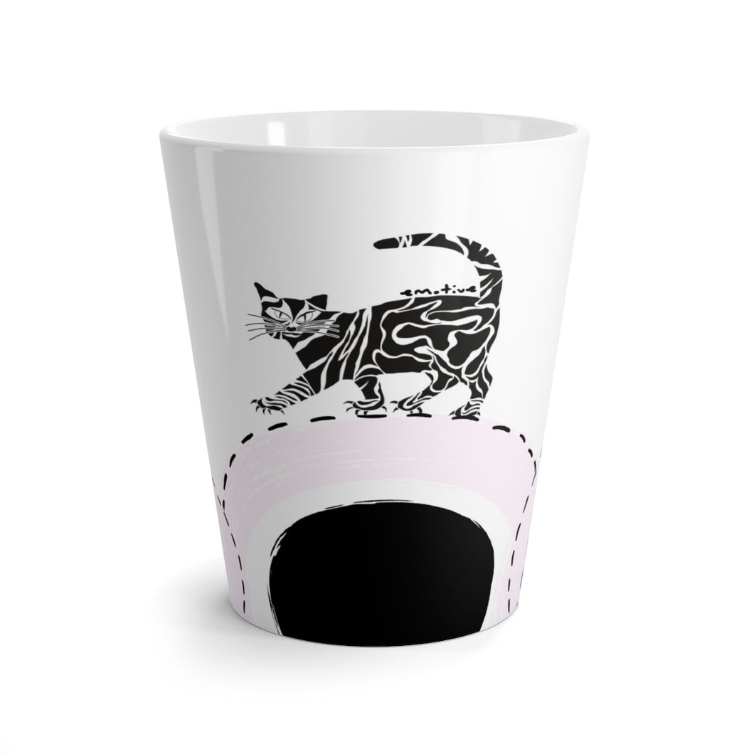 Serious Cat Mug in Light Purple