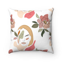 "Load image into Gallery viewer, ""Stoic Woman"" Square Pillow"