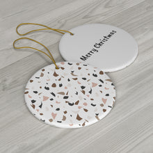 Load image into Gallery viewer, Reversible Terrazzo Christmas Ornament
