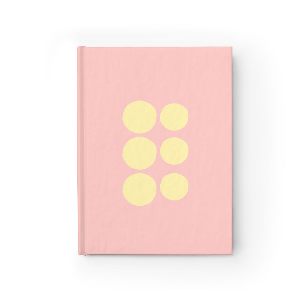 Coral Polka Dot Journal - Ruled Line