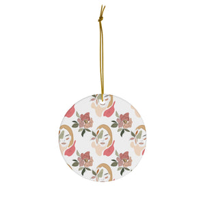 Reversible Stoic Woman Pattern Christmas Ornament