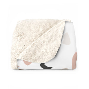 Multi-Colored Terrazzo Sherpa Fleece Blanket
