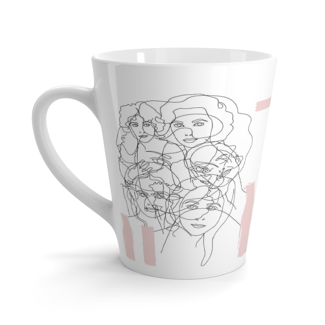 Interconnected Pink Latte Mug