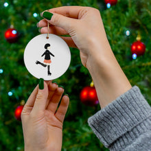 Load image into Gallery viewer, Reversible Skater Girl Christmas Ornament
