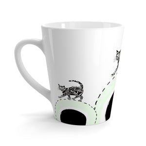 Serious Cat Mug in Light Green