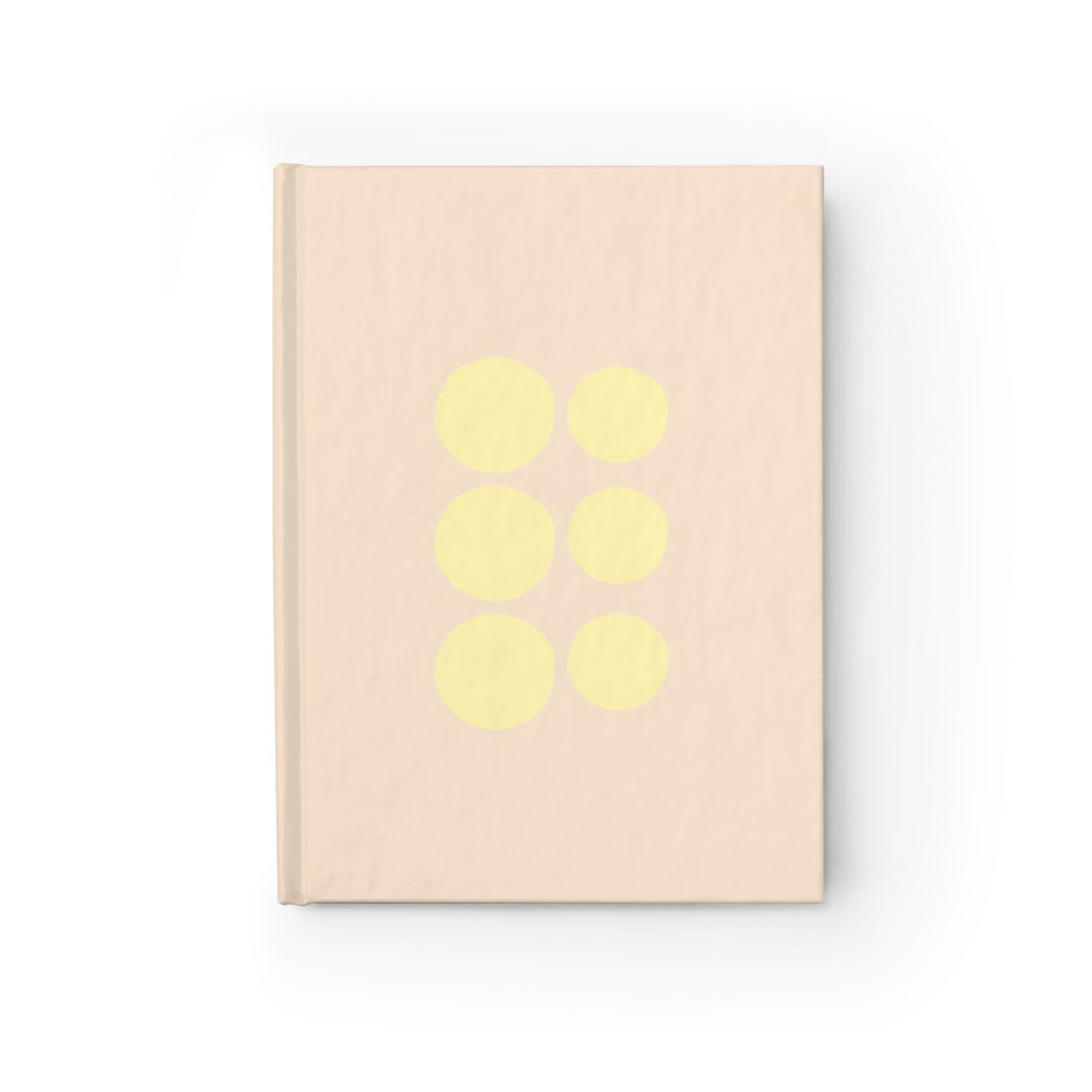 Beige Polka Dot Journal - Ruled Line