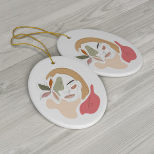Stoic Woman Ceramic Ornament