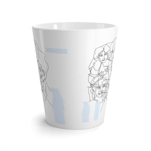 Interconnected Light Blue Latte Mug