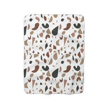 Load image into Gallery viewer, Brown Terrazzo Sherpa Fleece Blanket