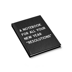 """New Year Resolutions"" Notebook"