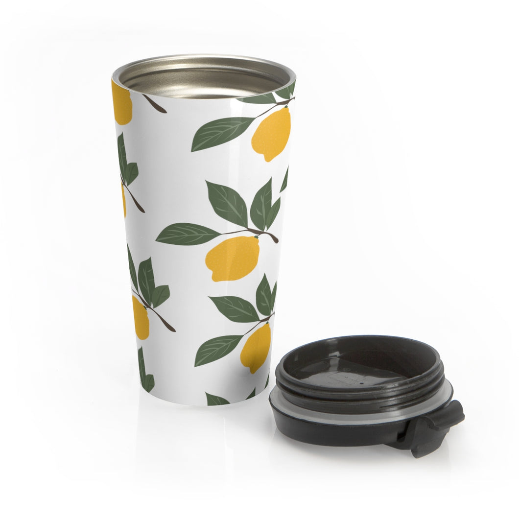 Fresh Lemons Travel Mug