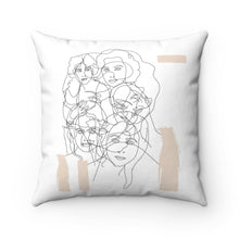 Load image into Gallery viewer, Interconnected Beige Square Pillow