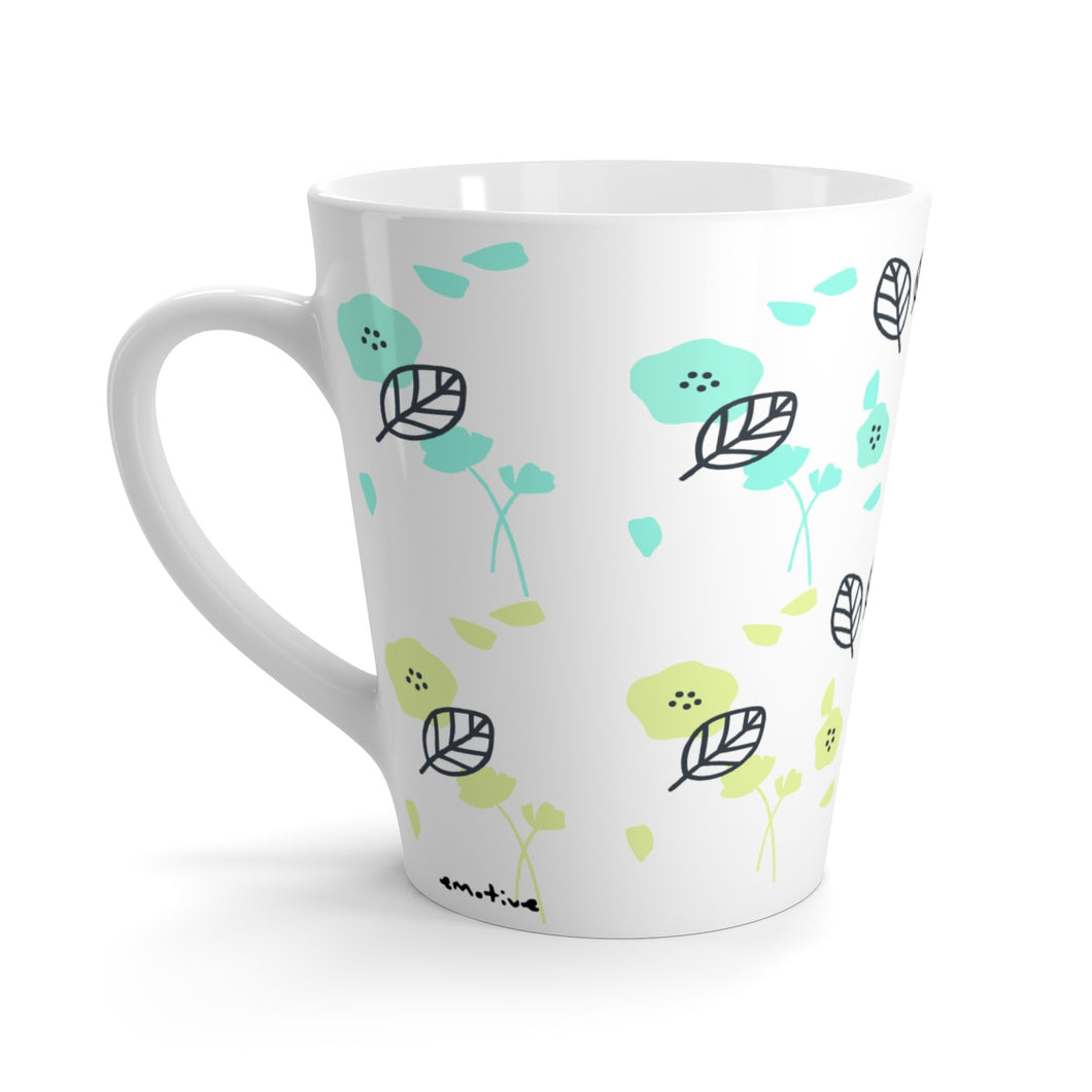 Spring Florals Mug in Lime Green
