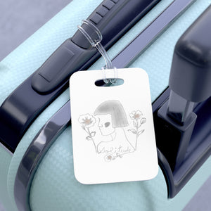 Lady Solitude Bag Tag in Grey
