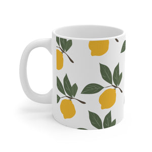 Fresh Lemons Ceramic Mug