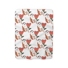 "Load image into Gallery viewer, ""She Sees Everything"" Sherpa Fleece Blanket"