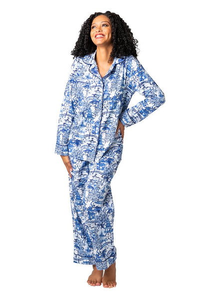 Blue and White Pajamas