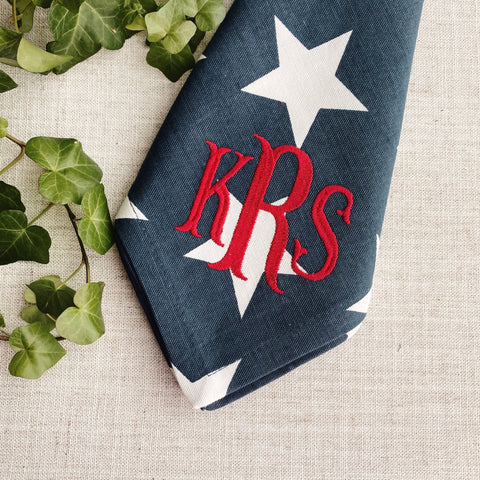 Navy Stars Dinner Napkins