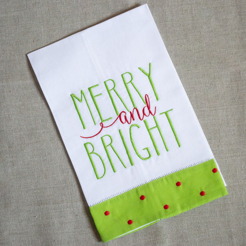 Merry and Bright Hand Towel