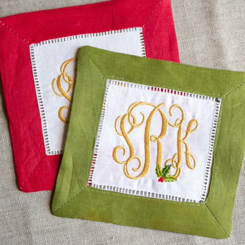 Holly Cocktail Napkins