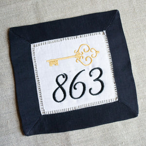 Numbers Cocktail Napkins