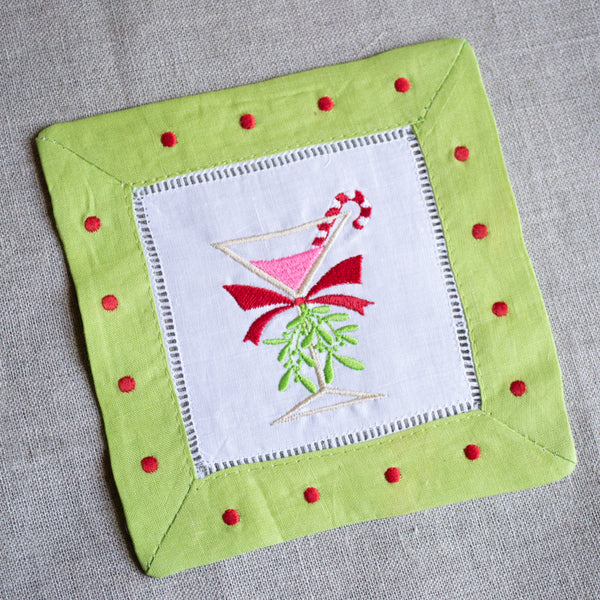 Holiday Martini Cocktail Napkins