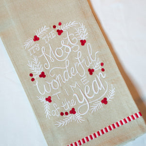 Wonderful Time Kitchen Towel