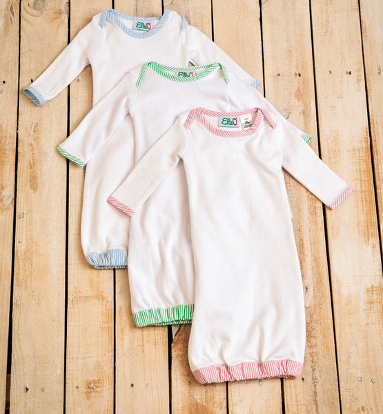 Infant Seersucker Trim Gown